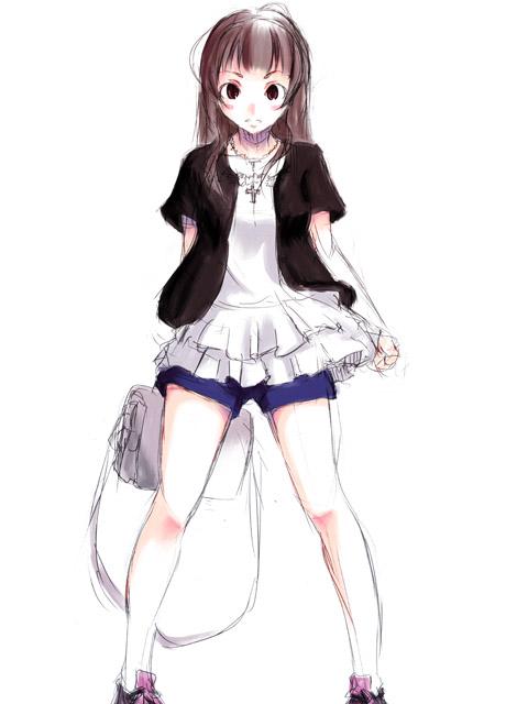私服でストレートな瞳子さん