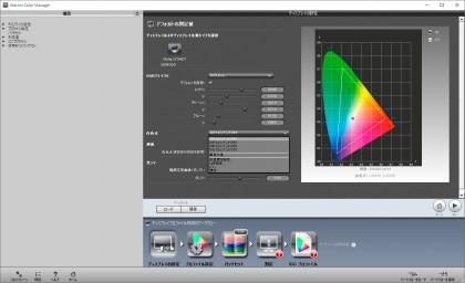 Wacom Color Manager ディスプレイの設定(カスタマイズ例)
